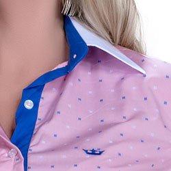 camisa premium principessa leticia maquinetado detalhe logo