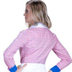 camisa premium principessa leticia maquinetado detalhe look costa