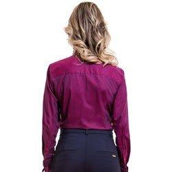 camisa feminina premium com abotoadura principessa marjoly detalhe modelagem