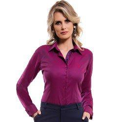 camisa feminina premium com abotoadura principessa marjoly detalhe tecido maquinetado