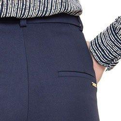 calca marinho reta de alfaiataria principessa tabita detalhe bolso costa