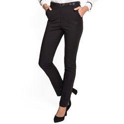 calca preta reta de alfaiataria principessa lorena detalhe tecido modelagem