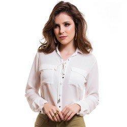 camisa com amarracao feminina principessa joaquina detalhe tecido