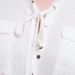 camisa com amarracao feminina principessa joaquina detalhe aviamento onix