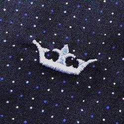 camisa social marinho de poa principessa yonara tecido algodao leve