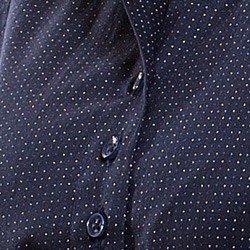 camisa social marinho de poa principessa yonara triplo bust