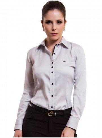 Camisa Feminina Listrada Premium Principessa Yeda