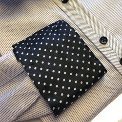 camisa feminina listrada premium principessa yeda detalhe tecido punho
