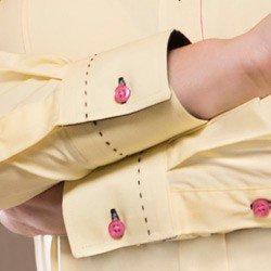 camisa classica amarela feminina principessa sara detalhe punho