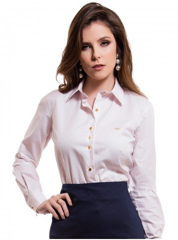 camisa classica premium listrada principessa aisha look