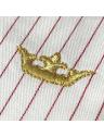 camisa classica premium listrada principessa aisha detalhe bordado