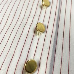 camisa classica premium listrada principessa aisha detalhe botao triplo busto