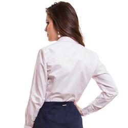 camisa classica premium listrada principessa aisha detalhe modelagem justa