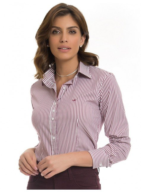 camisa social feminina listrada principessa samara look