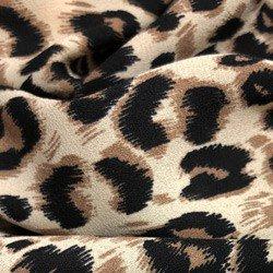 camisa feminina animal print onca principessa justina detalhe tecido