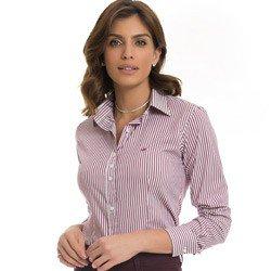 camisa social feminina listrada principessa samara detalhe como usar