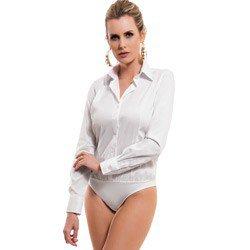 camisa body branca principessa paola detalhe modelagem