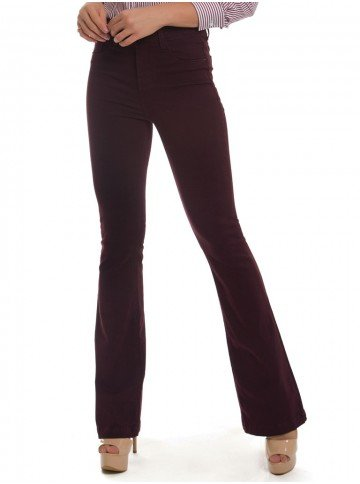 calca feminina flare bordo denimzero look