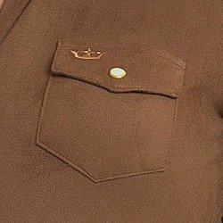 camisa suede marrom feminina principessa leirin detalhe bolso