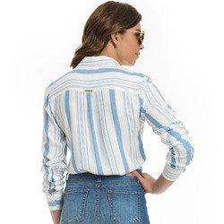 camisa feminina listrada principessa clara detalhe modelagem