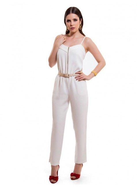macacao longo off white feminino principessa chiara look