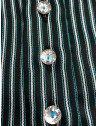 camisa feminina premium listrada verde principessa rosemeri botao de cristal