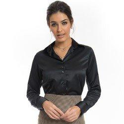 camisa de cetim preto principessa alba detalhe como usar