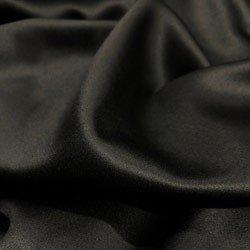 camisa de cetim preto principessa alba poliester detalhe
