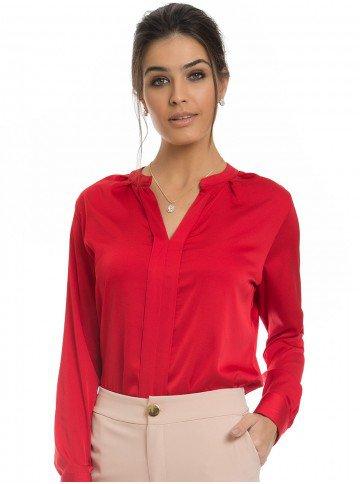 blusa de cetim vermelha principessa alessa look
