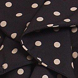 camisa preta poa com babado principessa josefina detalhe tecido