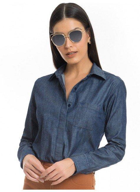 camisa feminina jeans escuro principessa analu look