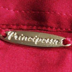 camisa de cetim vermelha principessa alessa placa metal