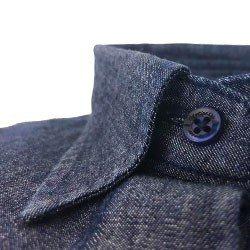 camisa feminina jeans escuro principessa analu detalhe gola