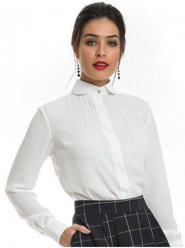 camisa off white com laco principessa irene sem laco look