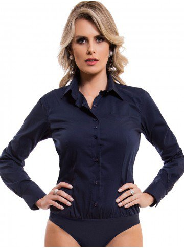 camisa body marinho principessa saionara detalhes look