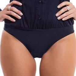 camisa body marinho principessa saionara detalhe calcinha botao