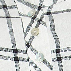 camisa xadrez feminina principessa liara detalhe madreperola