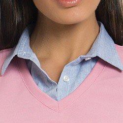 sueter camisa listrado rosa principessa marli detalhe gola