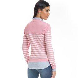 sueter camisa listrado rosa principessa marli detalhe modelagem