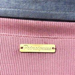 sueter camisa listrado rosa principessa marli detalhe placa ouro