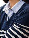 sueter camisa listrado marinho principessa leda gola
