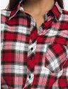 camisa xadrez vermelha feminina principessa thalita gola