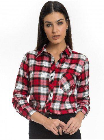 camisa xadrez vermelha feminina principessa thalita look