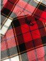 camisa xadrez vermelha feminina principessa thalita tecido