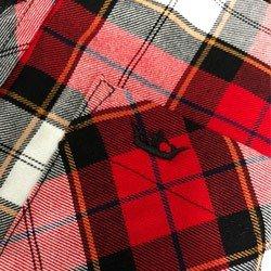 camisa xadrez vermelha feminina principessa thalita detalhe tecido