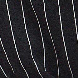 vestido chemise preto risca de giz principessa alice detalhe tecido viscose