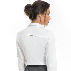 camisa feminina branca com drapeado principessa benita detalhe modelagem