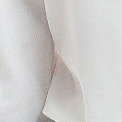 camisa feminina branca com drapeado principessa benita detalhe tecido algodao