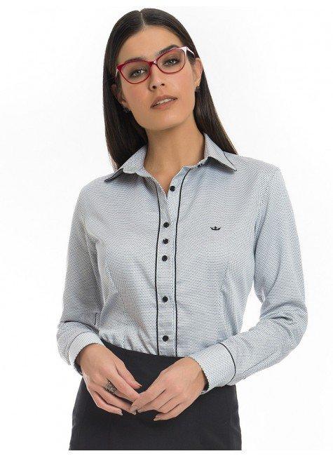 camisa social de poa premium principessa eloa look