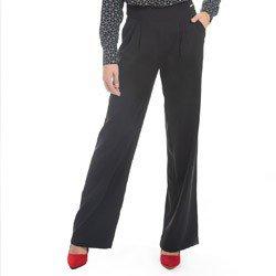 calca pantalona preta principessa lourdes detalhe modelo